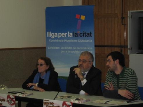 Rosa Regàs, Joan F. Pont i Lluís Monerris