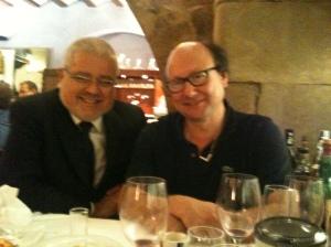 Joan F. Pont & Javier Otaola fotografiados con un i phone por Nuria Fuente
