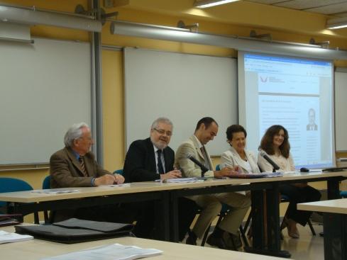 Sesión inaugural: E. Echevarría, J.F. Pont, M. Pont, G. Clemente, P. Lancuentra