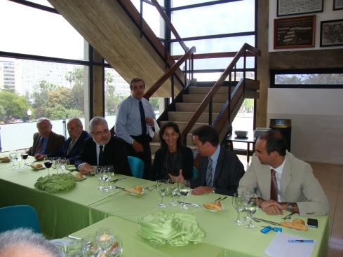 Presidencia del almuerzo: E. Echevarría, J. López, J.F. Pont, M.D. Torregrosa, J. Iglesias y M.Pont